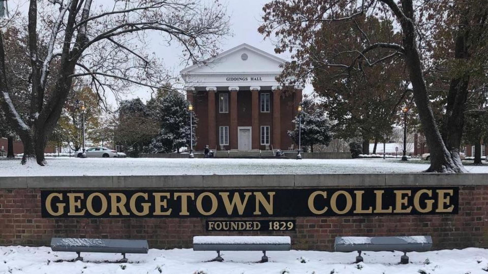Snow at Georgetown College