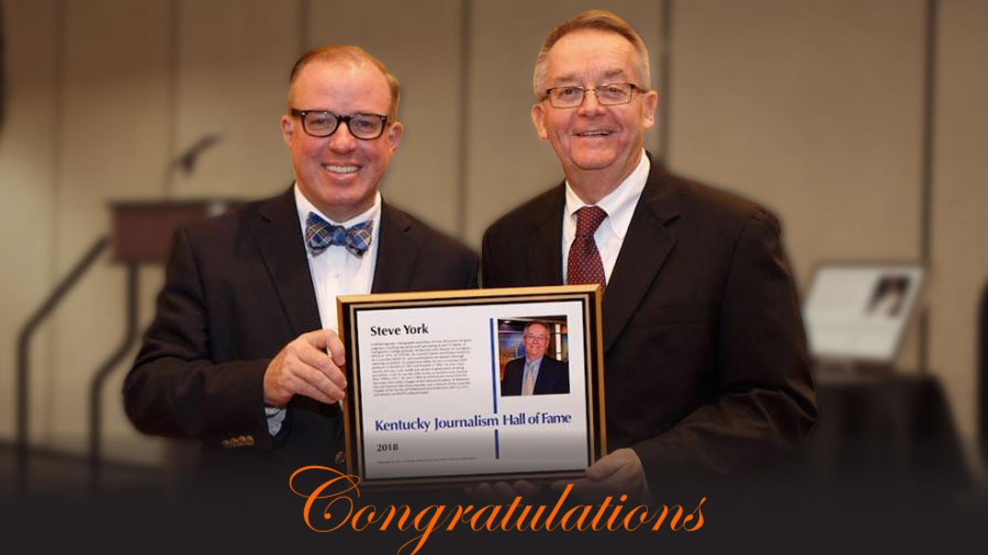 York Journalism Hall of Fame Induction Complete