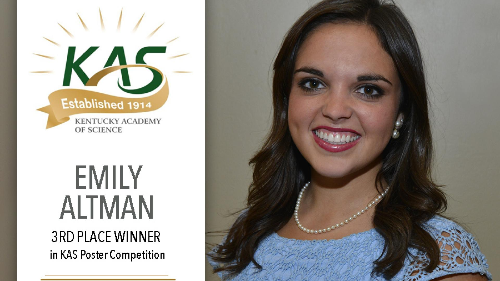 Emily Altman wins 3rd place in KAS poster competition