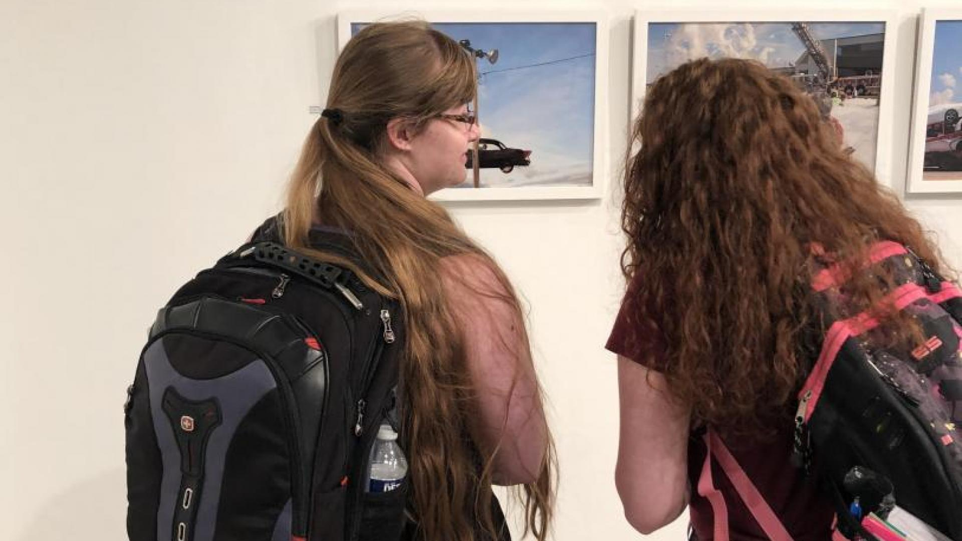Students Look at Photography in Wilson Gallery