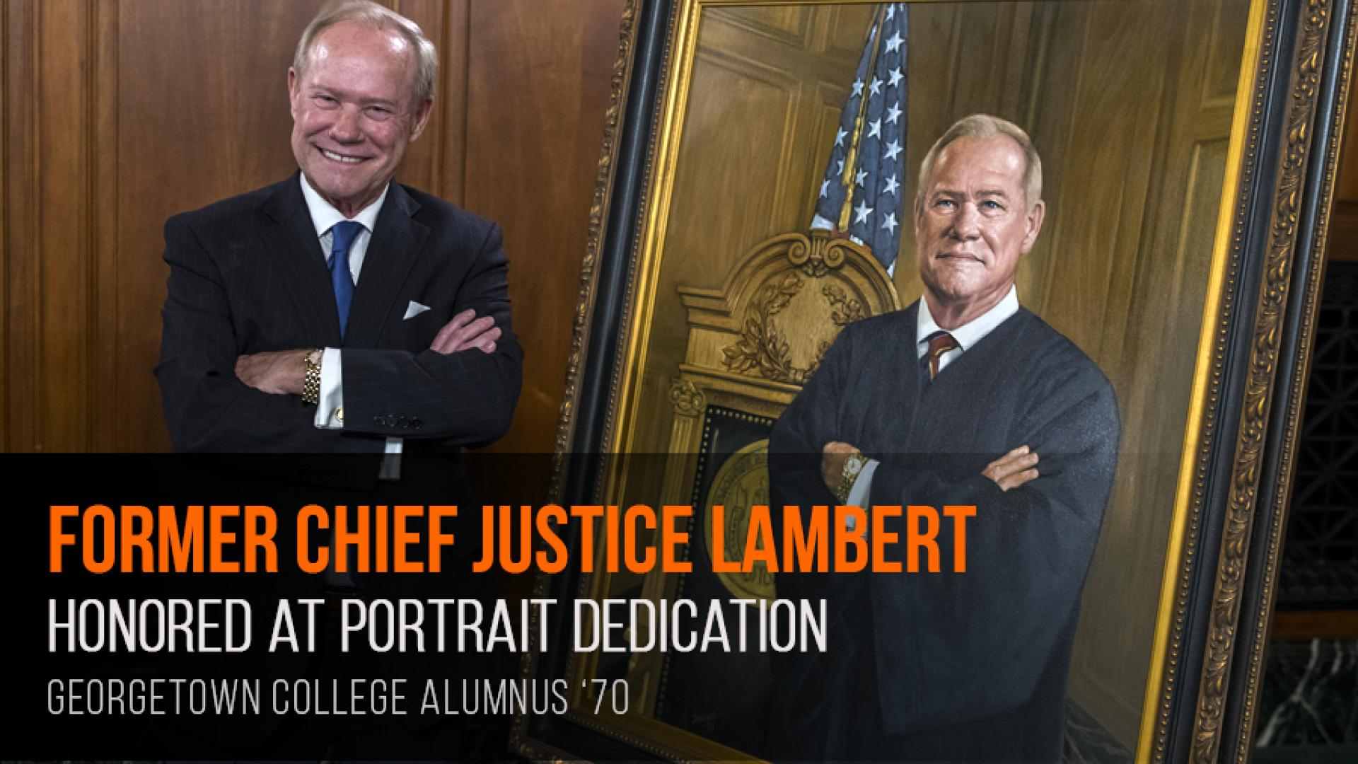 Portrait dedication honors retired chief justice