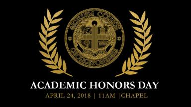 Divisions and Departments Honor Student Academic Achievement