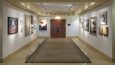 Photo of the Cochenour Gallery inside the LRC (Ensor Learning Resource Center)