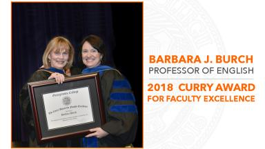 Barbara J. Burch receives 2018 Curry Award for Faculty Excellence