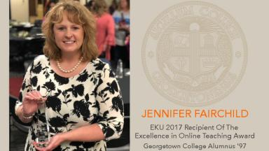 Jennifer Fairchild receives Excellence in Online Teaching Award