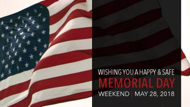 Campus Closed for Memorial Day Holiday