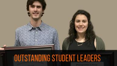 De Villalobos Paz and Card Named Outstanding Student Leaders