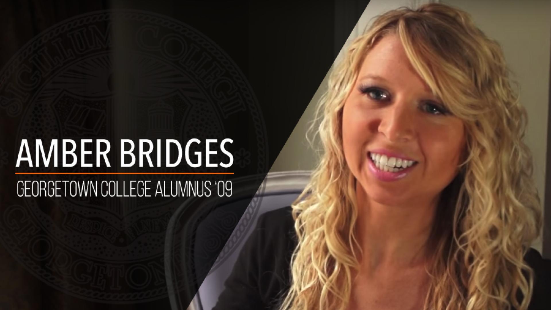 "Amber Bridges - Georgetown College Alumnus ""09"