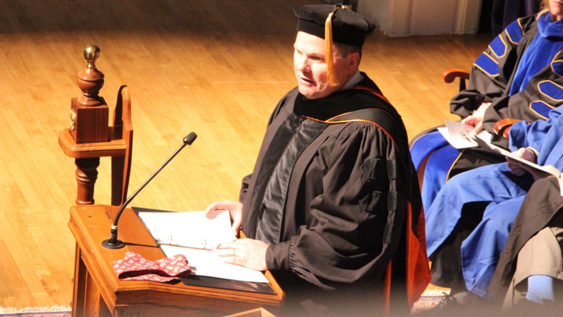 President Jones Speaks at Opening Convocation