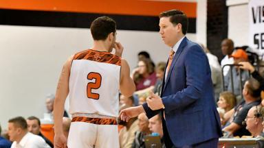 Coach Briggs Instructs Player