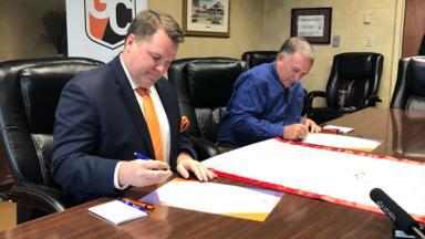 President Jones Signing